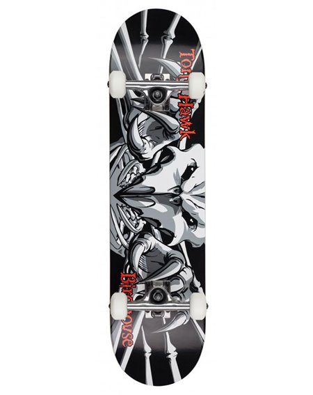 "Birdhouse Skateboard Completo Hawk Falcon 3 7.75"" Black"