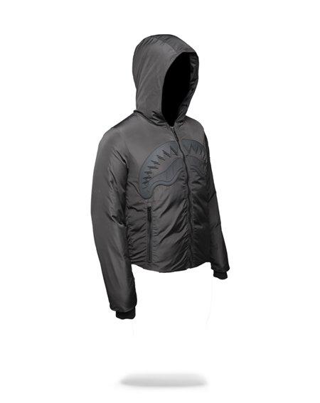 Sprayground Men's Jacket Ghost Rubber Shark Black