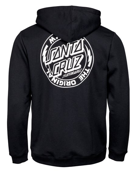 Santa Cruz MFG Voltage Felpa con Cappuccio Zip Uomo Black