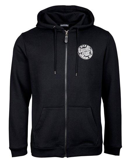 Santa Cruz Men's Full Zip Hoodie MFG Voltage Black