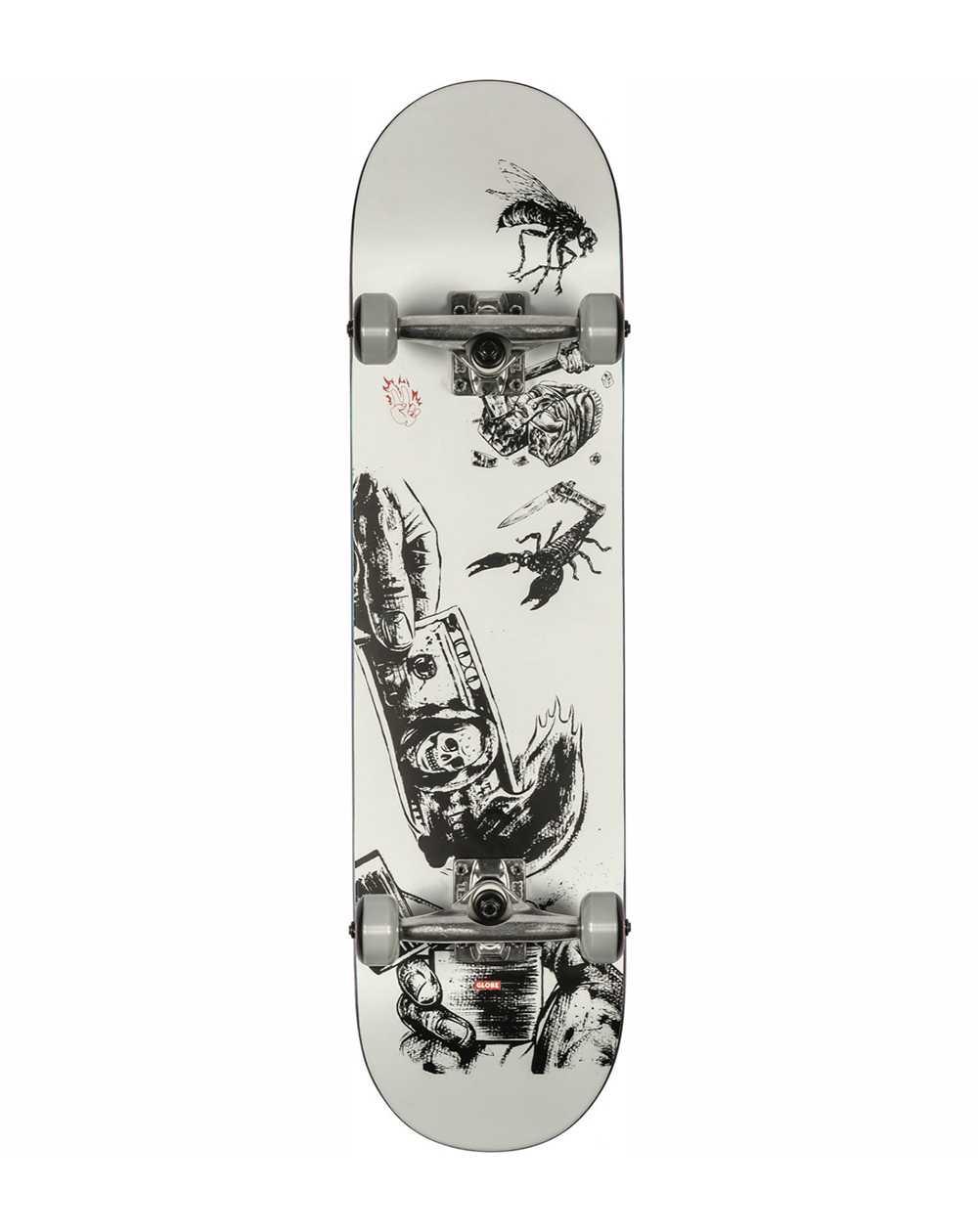 """Globe G1 Hard Luck 8.00"""" Complete Skateboard White/Black"""