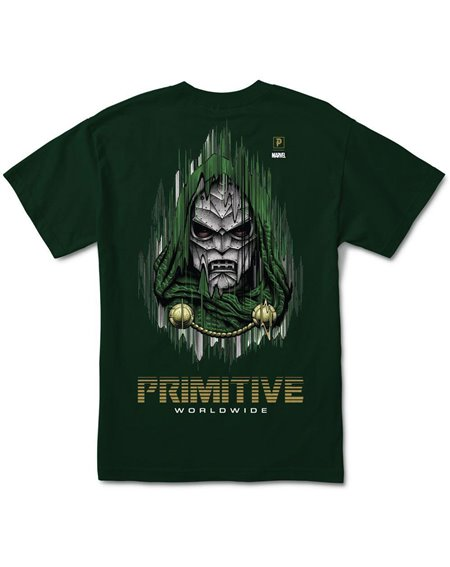 Primitive Men's T-Shirt Paul Jackson x Marvel - Doom Forest Green