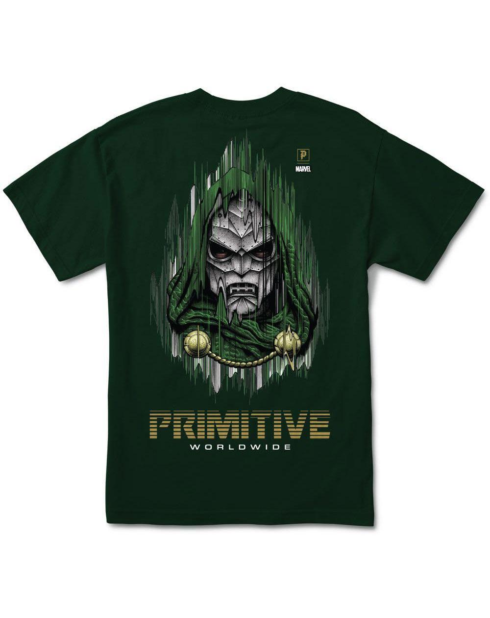 Primitive Paul Jackson x Marvel - Doom T-Shirt Uomo Forest Green