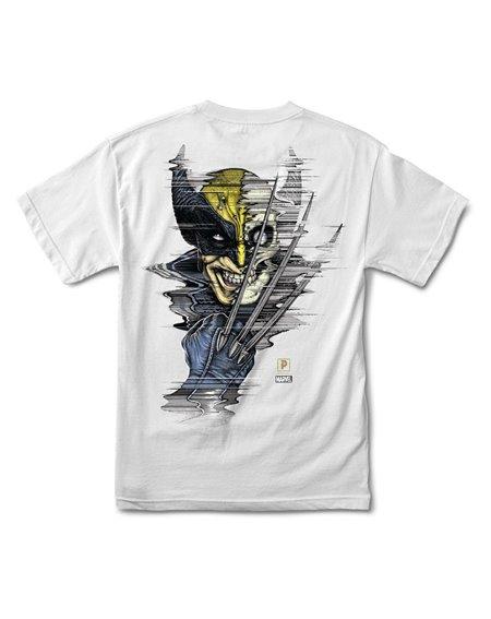 Primitive Paul Jackson x Marvel - Wolverine Camiseta para Homem White