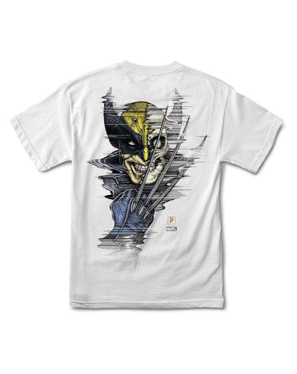 Primitive Men's T-Shirt Paul Jackson x Marvel - Wolverine White