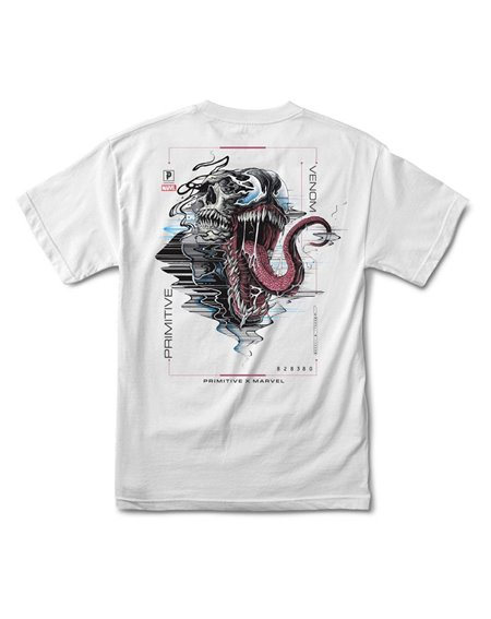 Primitive Men's T-Shirt Paul Jackson x Marvel - Venom White