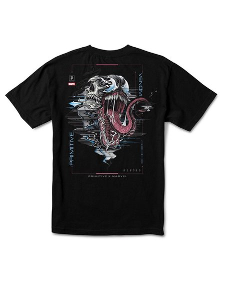 Primitive Men's T-Shirt Paul Jackson x Marvel - Venom Black