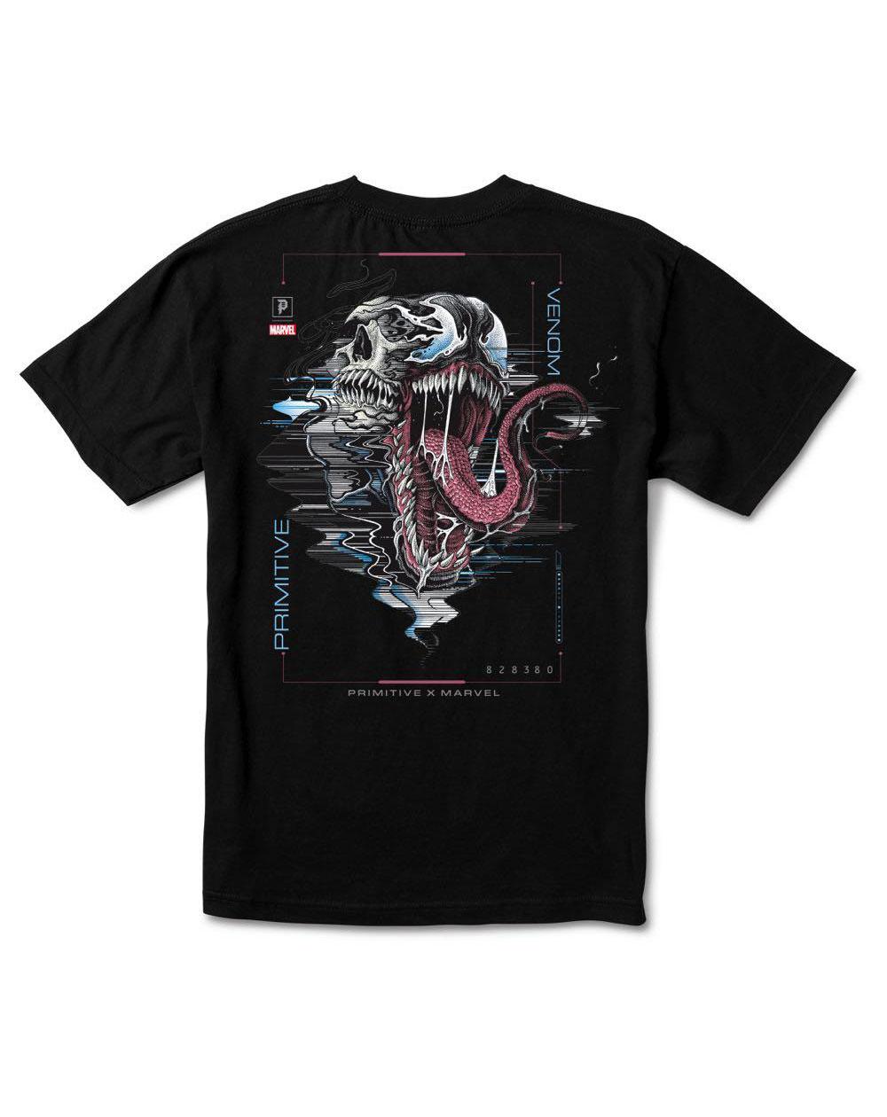 Primitive Men's T-Shirt Paul Jackson x Marvel - Venom Black