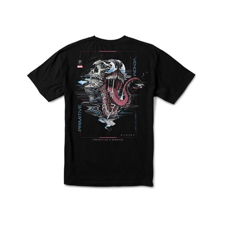 Primitive Paul Jackson x Marvel - Venom T-Shirt Uomo Black