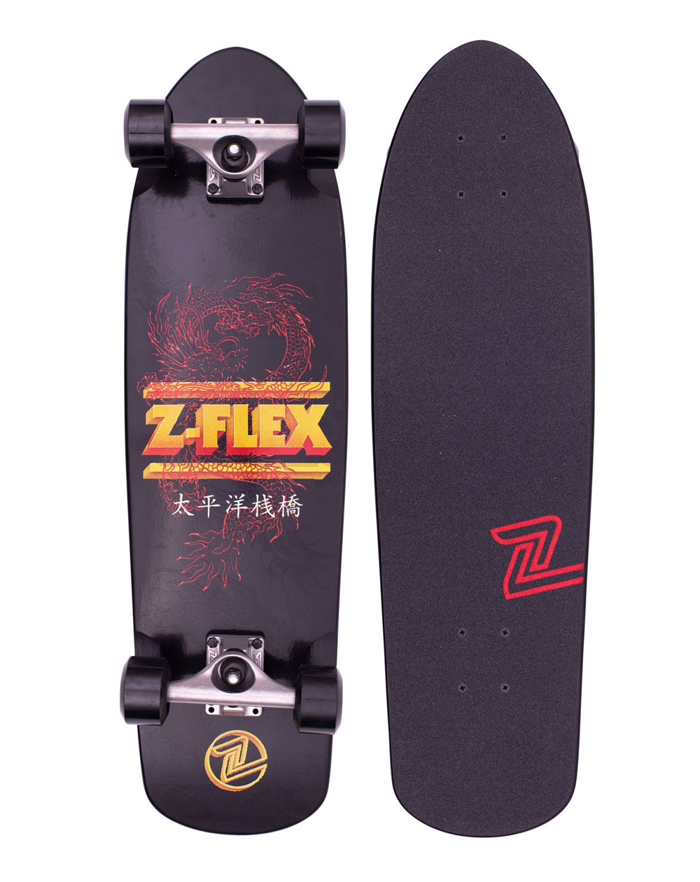 Z-Flex Skate Cruiser Dragon Shorebreak Black