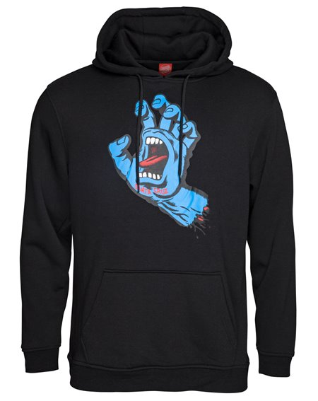 Santa Cruz Screaming Hand Sudadera con Capucha para Hombre Black