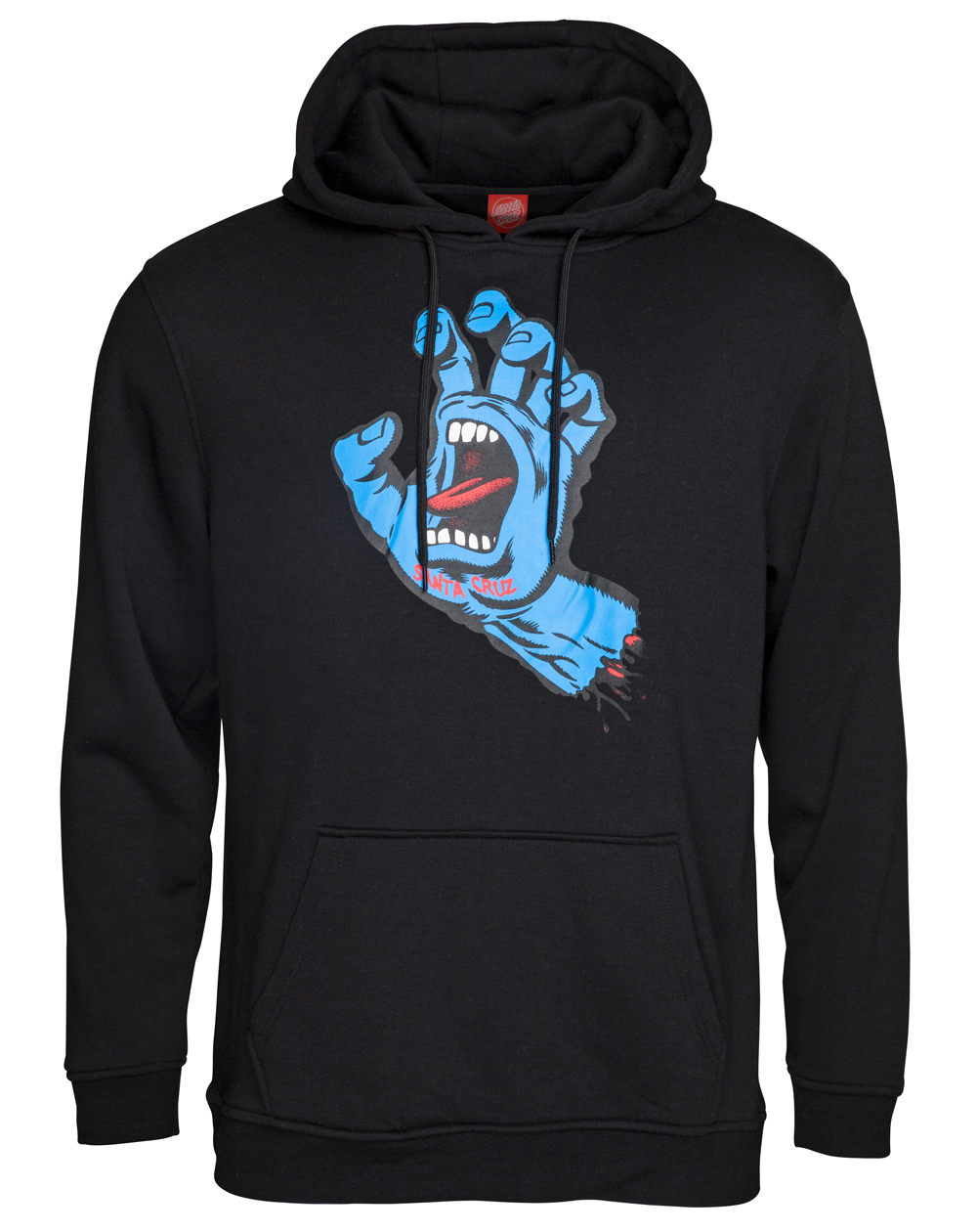 Santa Cruz Men's Hoodie Screaming Hand Black