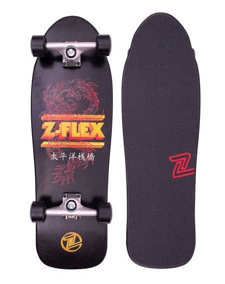 Z-Flex Skateboard Cruiser Dragon 80's Bear Black