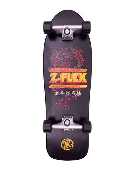 Z-Flex Dragon 80's Bear Skateboard Cruiser Black