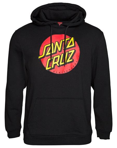 Santa Cruz Classic Dot Felpa con Cappuccio Uomo Black
