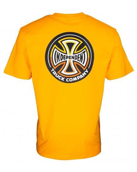 Independent Herren T-Shirt Split Cross Gold