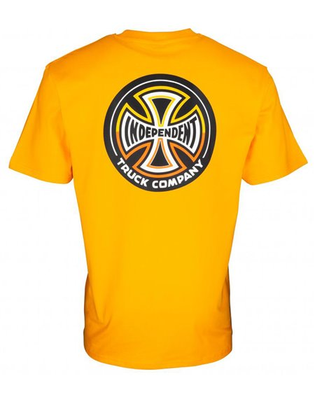 Independent Split Cross Camiseta para Homem Gold