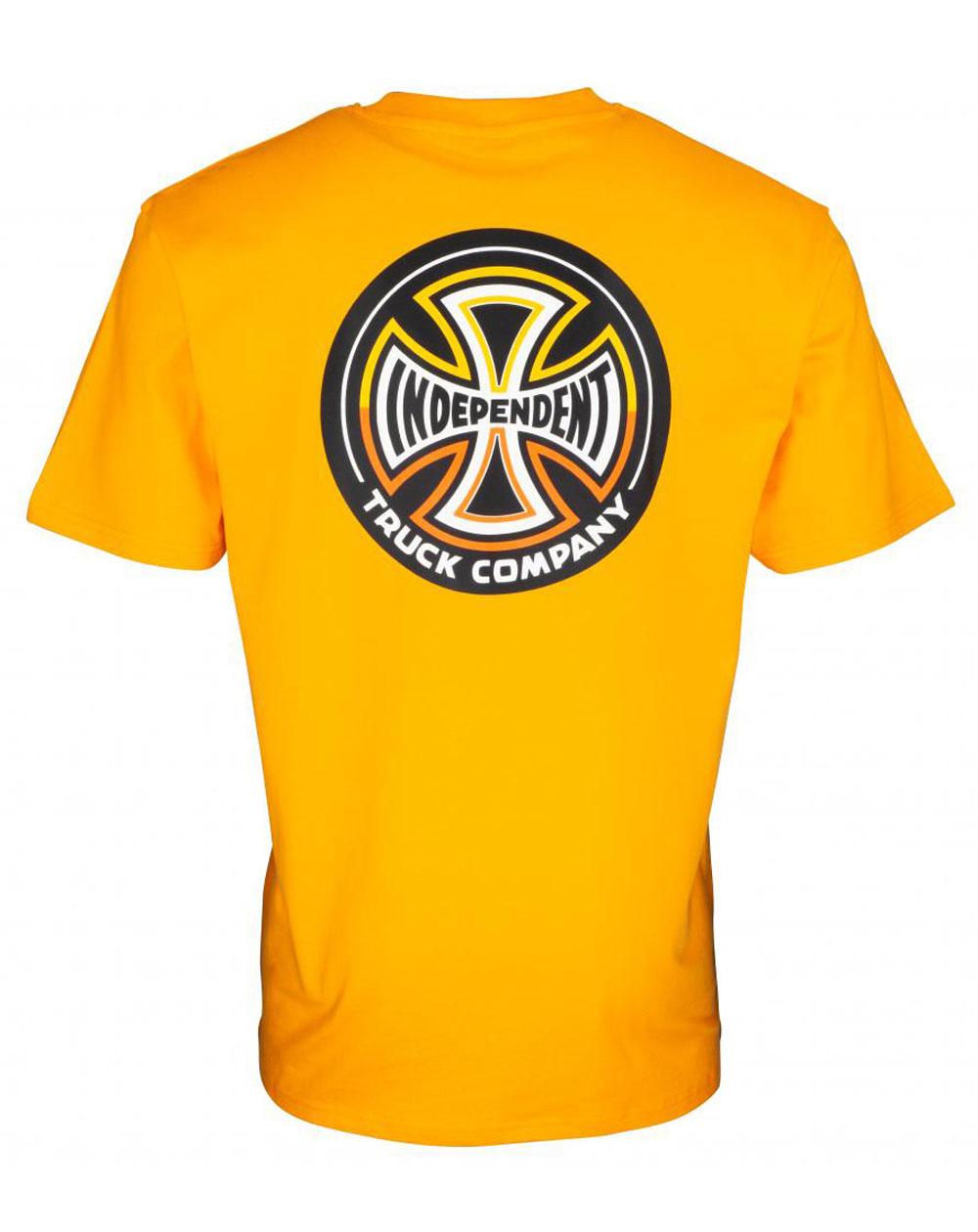 Independent Men's T-Shirt Split Cross Gold