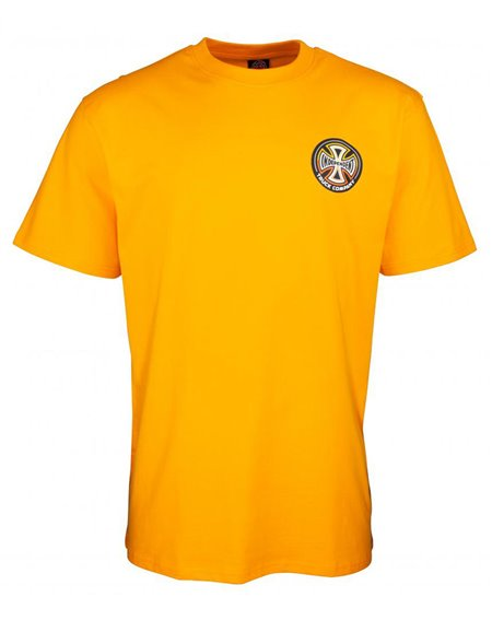 Independent Split Cross T-Shirt Uomo Gold