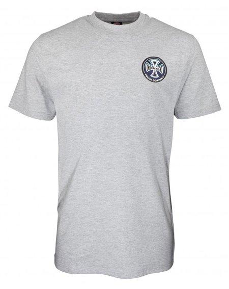 Independent Men's T-Shirt Split Cross Dark Heather