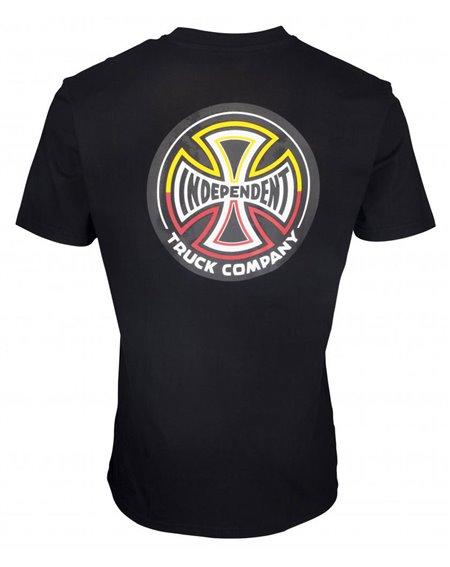 Independent Men's T-Shirt Split Cross Black