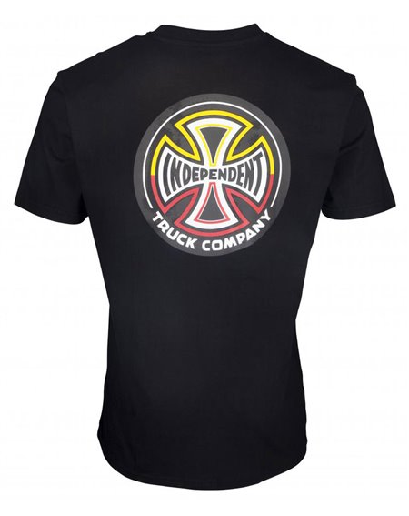 Independent Split Cross T-Shirt Uomo Black