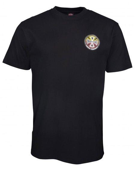 Independent Split Cross T-Shirt Homme Black