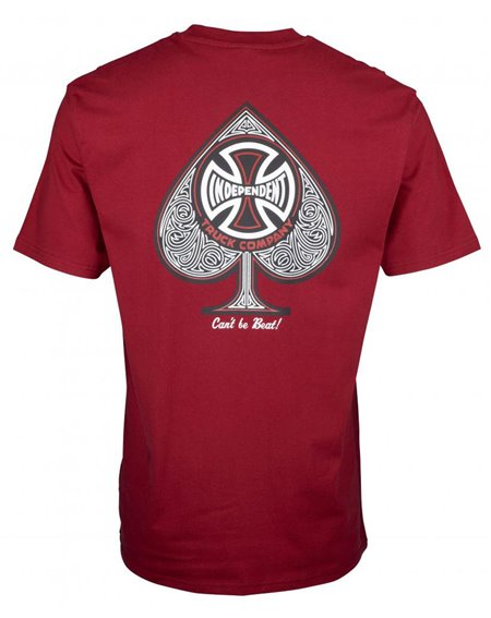 Independent Men's T-Shirt CBB Cross Spade Maroon