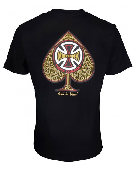 Independent CBB Cross Spade T-Shirt Uomo Black