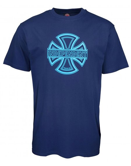 Independent Men's T-Shirt Convex Dark Navy
