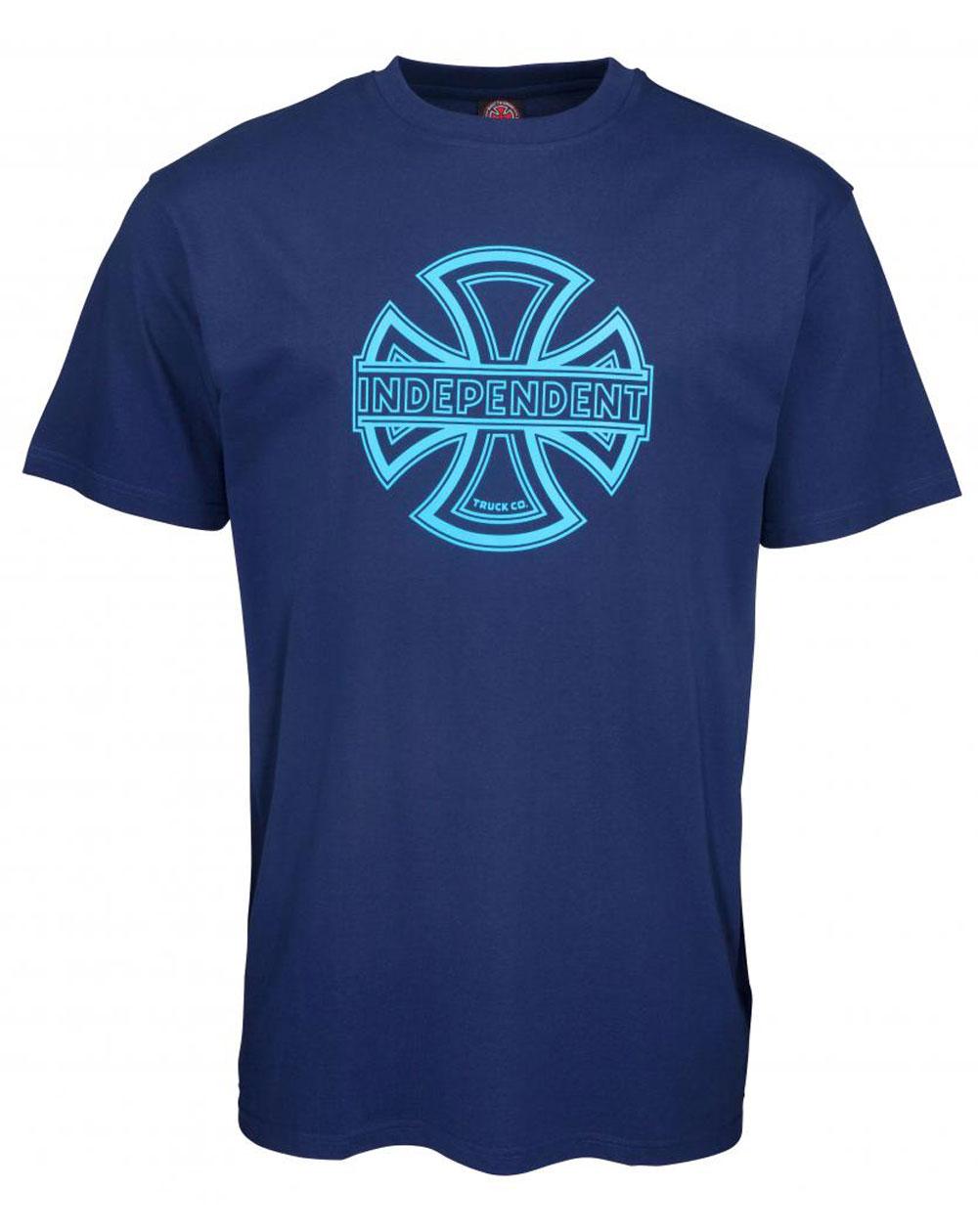Independent Convex T-Shirt Uomo Dark Navy