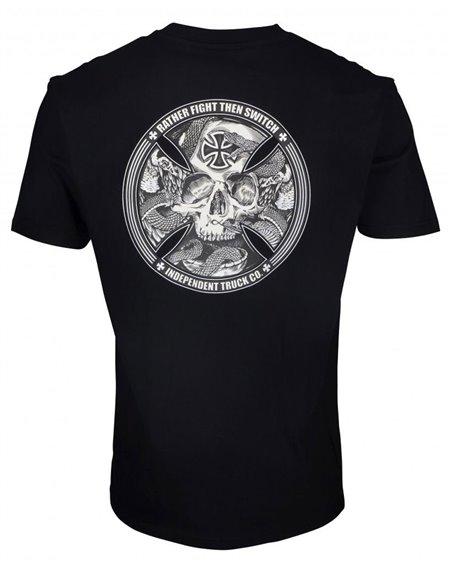 Independent FTS Skull Camiseta para Homem Black