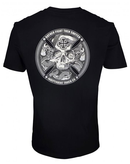 Independent Men's T-Shirt FTS Skull Black