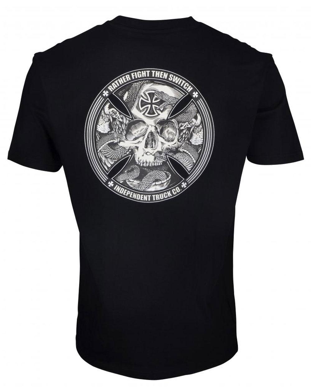 Independent Men's T-Shirt FTS Skull Black