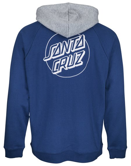 Santa Cruz Split Felpa con Cappuccio Uomo Indigo/Dark Heather