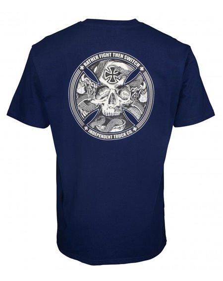 Independent Herren T-Shirt FTS Skull Dark Navy