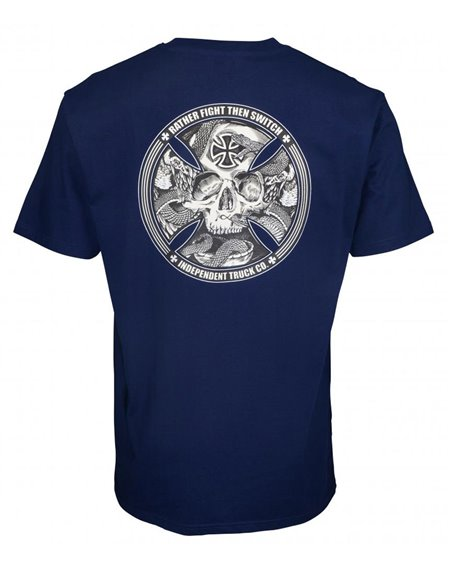 Independent Men's T-Shirt FTS Skull Dark Navy