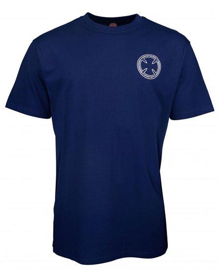 Independent Men's T-Shirt FTS Skull Dark Navy