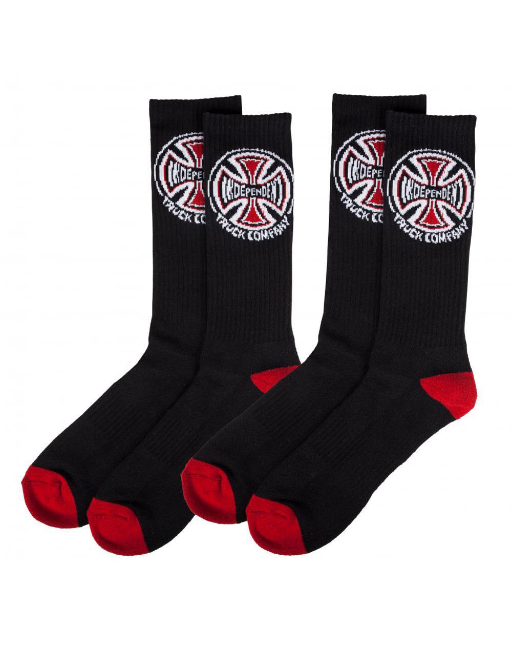 Independent Men's Socks Truck Co. Black pack of 2