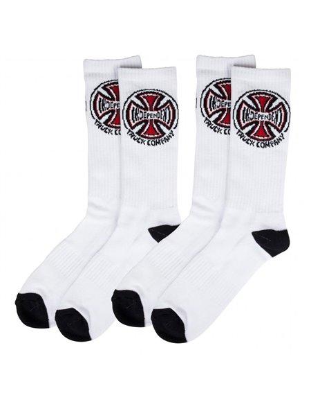 Independent Men's Socks Truck Co. White pack of 2