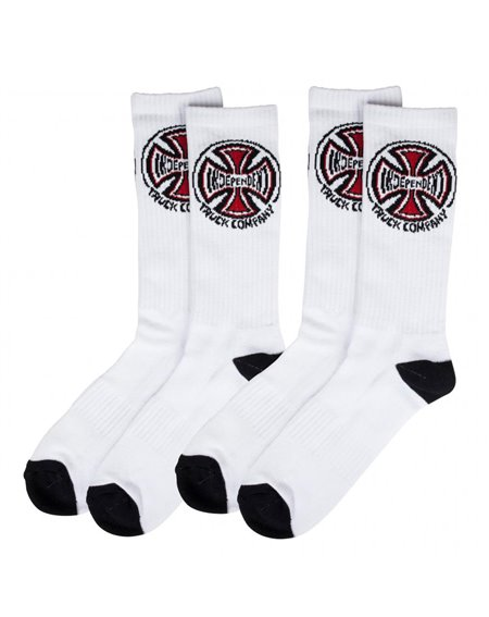 Independent Truck Co. Calcetines para Hombre White 2 piezas