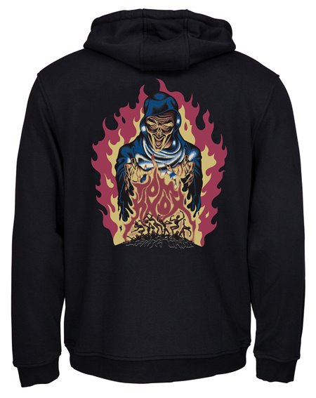 Santa Cruz Men's Hoodie Knox Firepit Black
