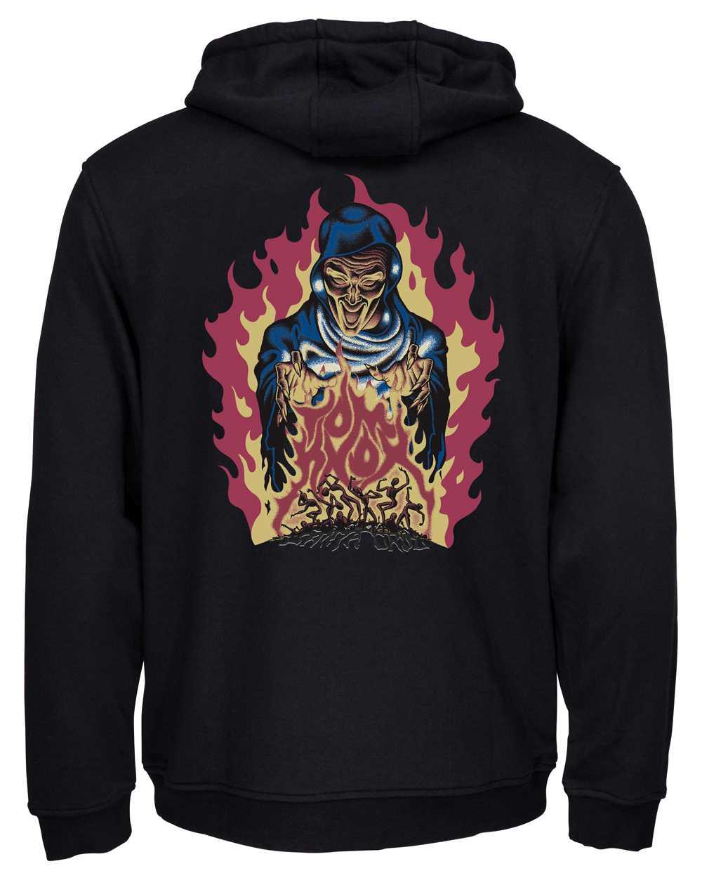 Santa Cruz Men's Hoodie Knox Firepit Black