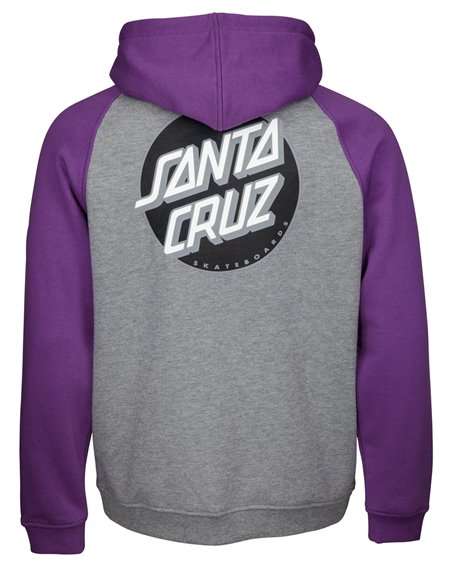 Santa Cruz Other Dot Felpa con Cappuccio Zip Uomo Purple/Dark Heather