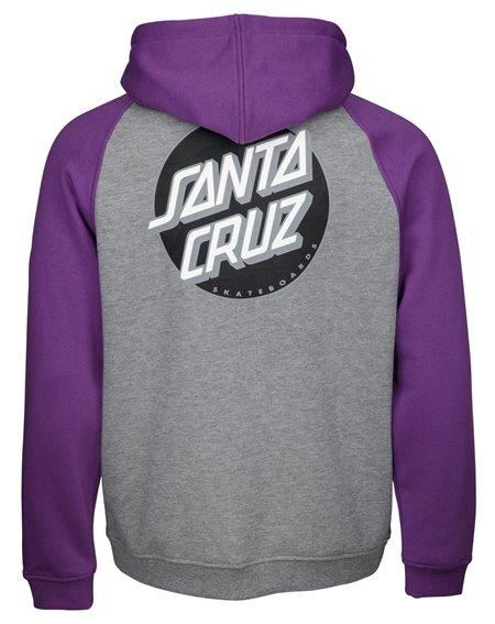 Santa Cruz Other Dot Moleton com Capuz com Zíper para Homem Purple/Dark Heather