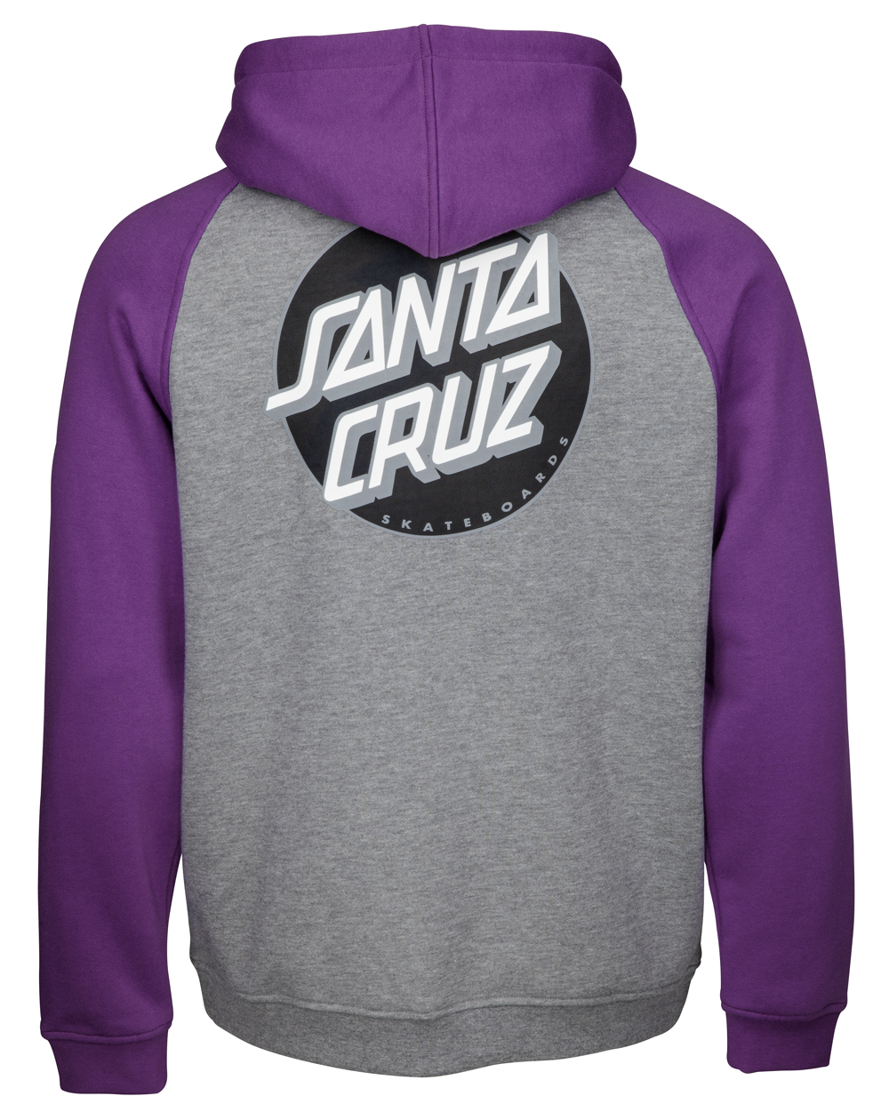 Santa Cruz Men's Full Zip Hoodie Other Dot Purple/Dark Heather