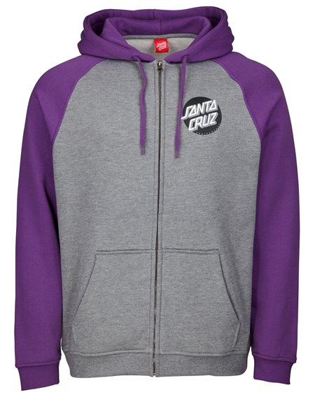 Santa Cruz Herren Zip Kapuzenpullover Other Dot Purple/Dark Heather
