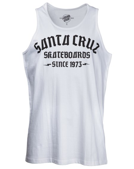 Santa Cruz Gothica Camiseta de tirantes para Hombre White
