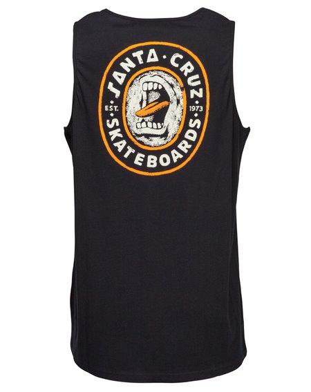 Santa Cruz Screamo Camiseta de tirantes para Hombre Black