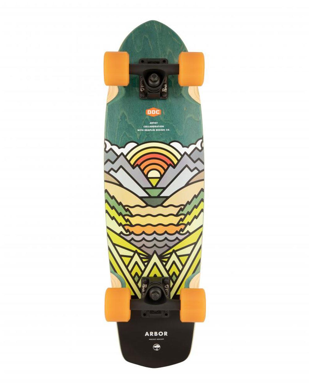 """Arbor Skateboard Cruiser Artist Pocket Rocket 27"""""""